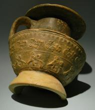 Roman Vase with Chariot Racing Scene