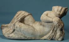 Roman Marble Reclining Child