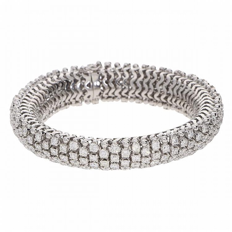 18K White Gold Bracelet   Armband aus 750er Weißgold