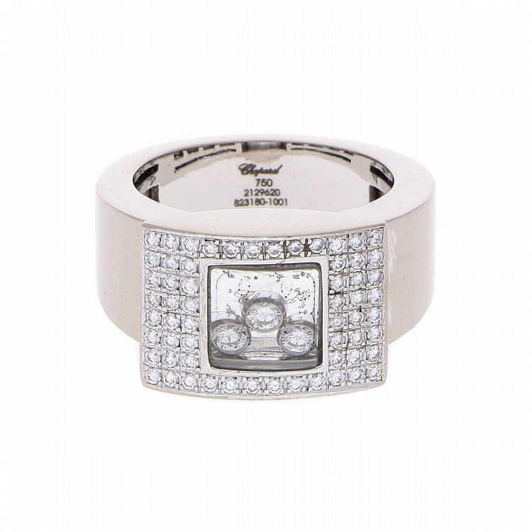 18K White Gold Chopard Ring | Damenring aus 750er Weißgold, Chopard