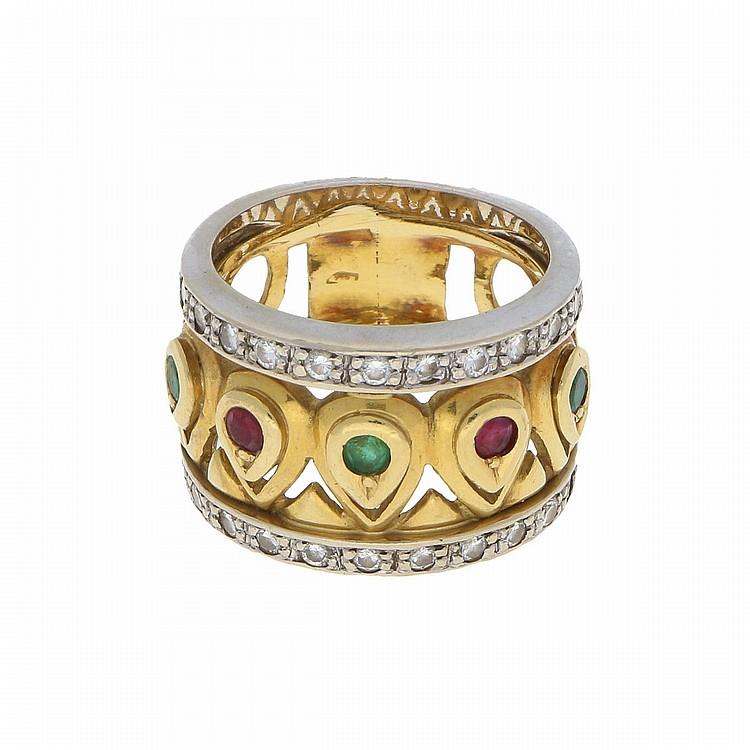 18K Yellow Gold Ring | Damenring in 750er Gelbgold