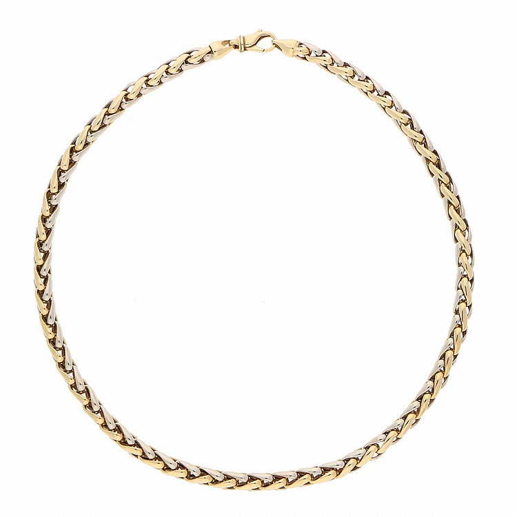 14K Yellow Gold and White Gold Necklace | Collier aus 585er Gold