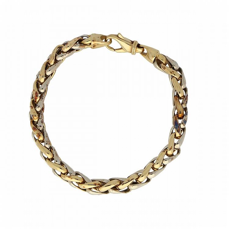 14K Yellow Gold and White Gold Bracelet | Armband aus 585er Gold
