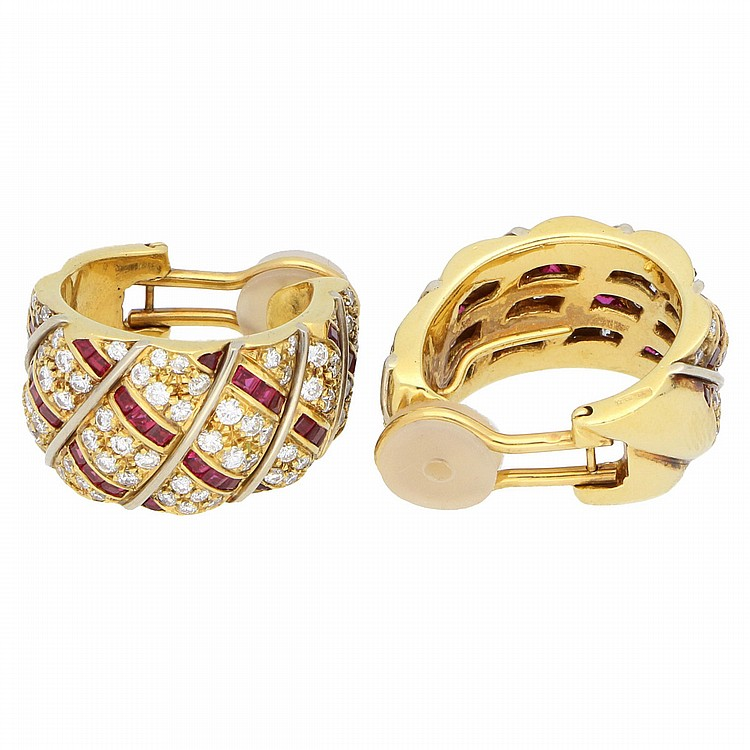 18K Yellow Gold Earrings | Ohrclipse aus 750er Gelbgold