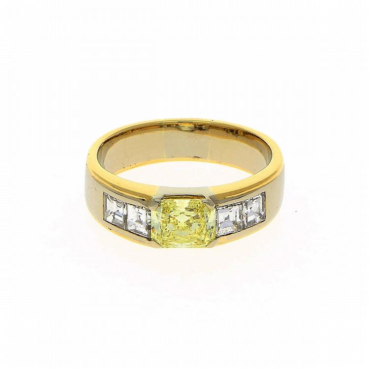 18K Yellow Gold and White Gold Ring | Ring aus 750er Gelb und Weißgold