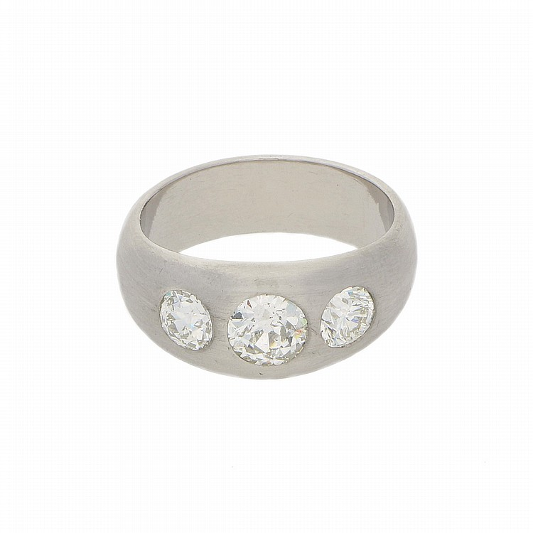 Platinum Old Miners Cut Diamond Ring | Ring aus Platin