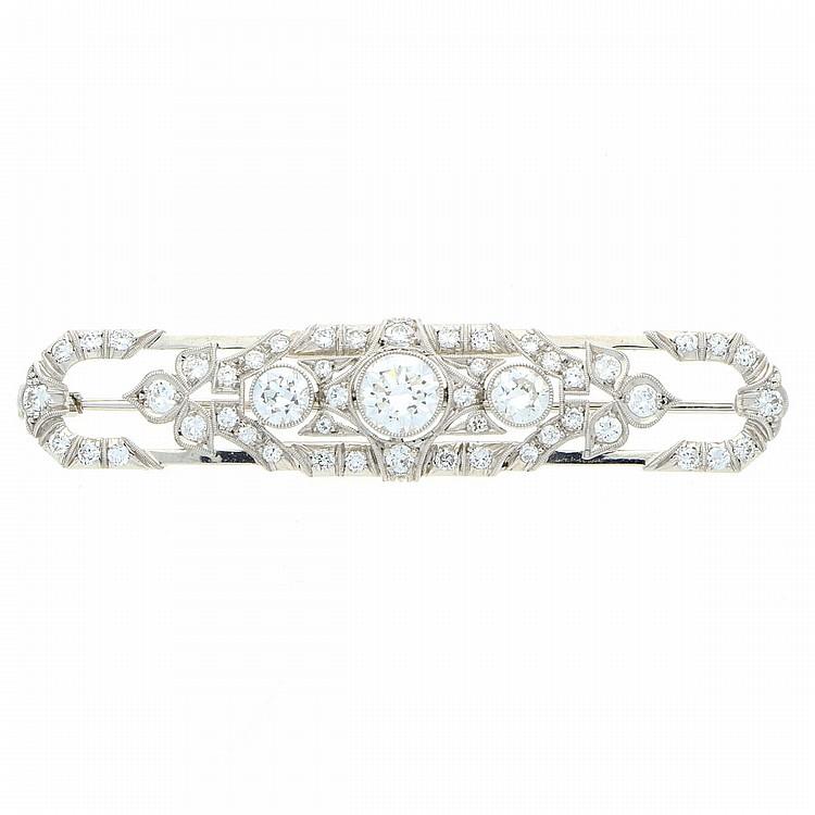 Diamond Brooch - Platinum | Brosche aus Platin