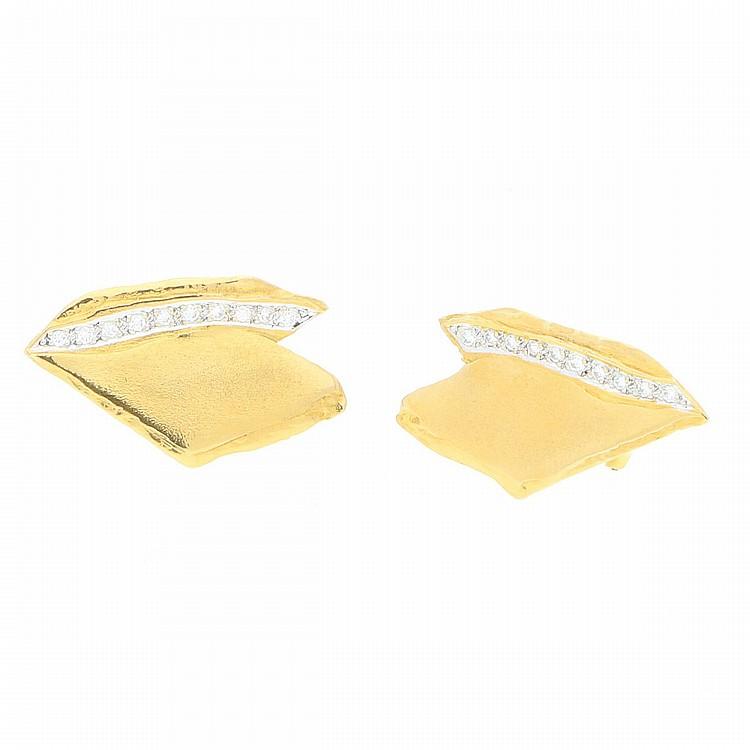 14K Yellow Gold Earrings | Ohrstecker aus 585er Gelbgold