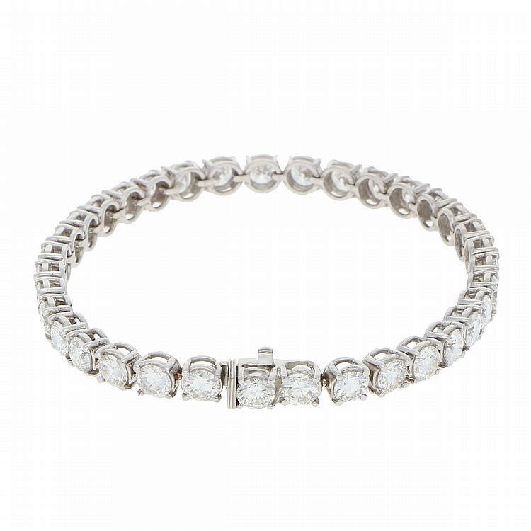18K White Gold Exclusive Bracelet | Exclusives Brillantarmband in 750er Weißgold