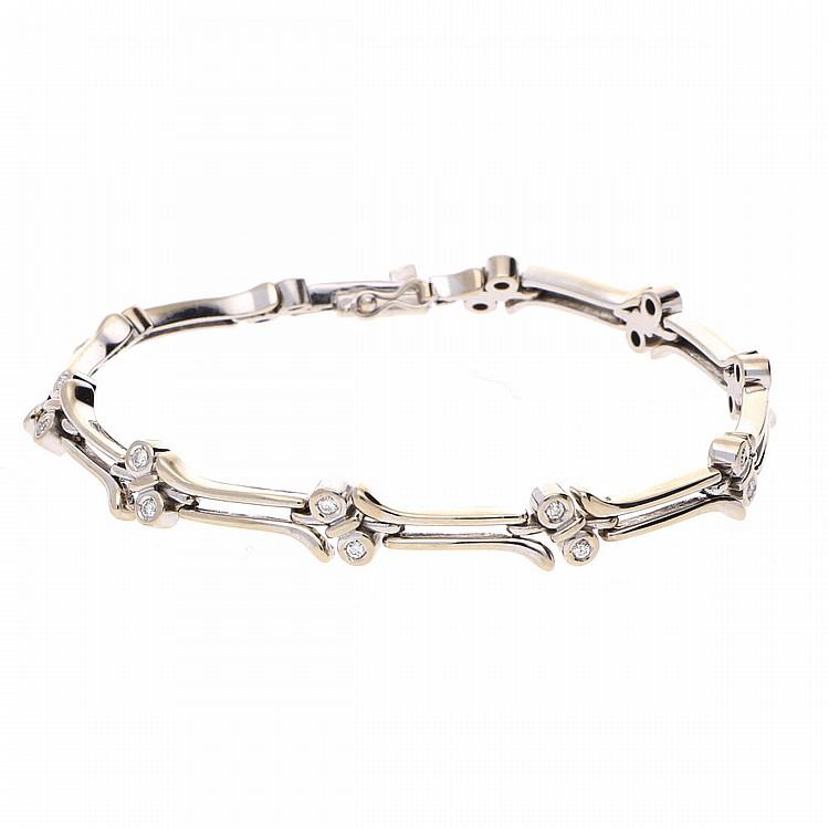 14K White Gold Bracelet | Armband aus 585er Weißgold