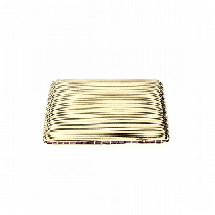 14K Yellow Gold Cigarette Case | Zigarettenetui aus 585er Gelbgold