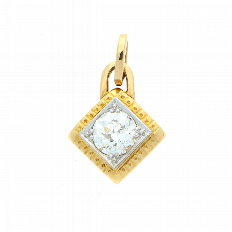 18K Yellow Gold and White Gold Necklace | Anhänger aus 750er Gelb- und Weißgold