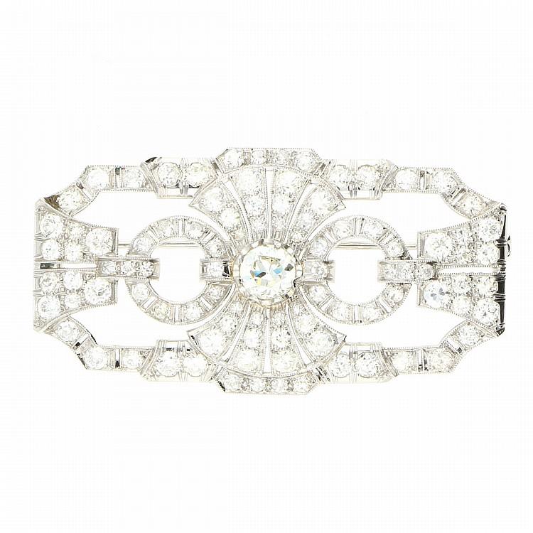 Diamond Brooch - Platinum | Platin-Brosche mit Diamanten