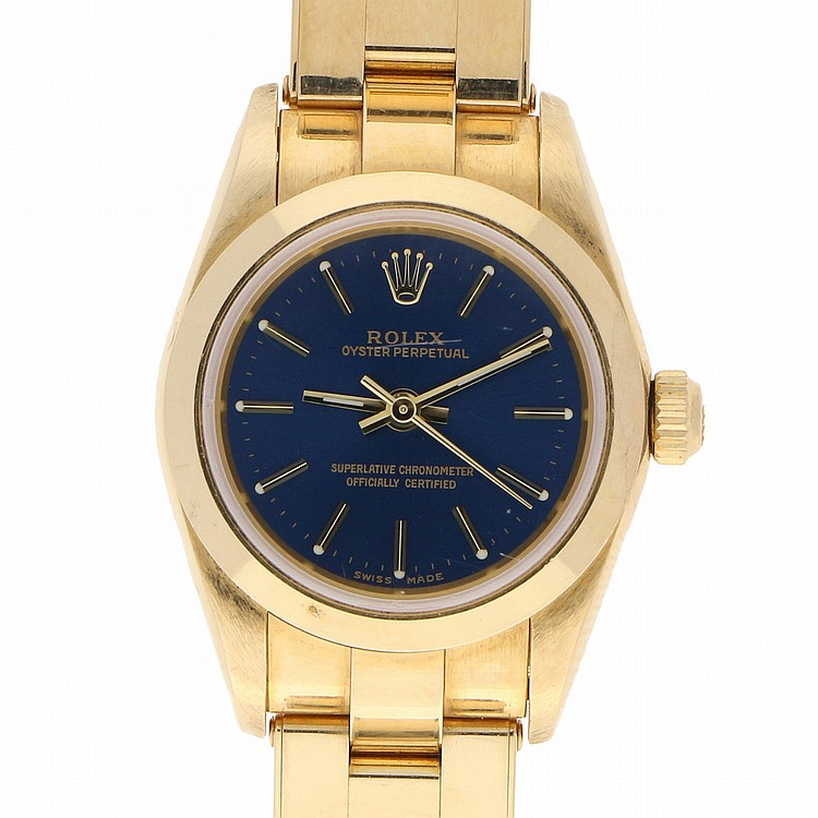 18K Yellow Gold Rolex Womens Wristwatch | Damenarmbanduhr