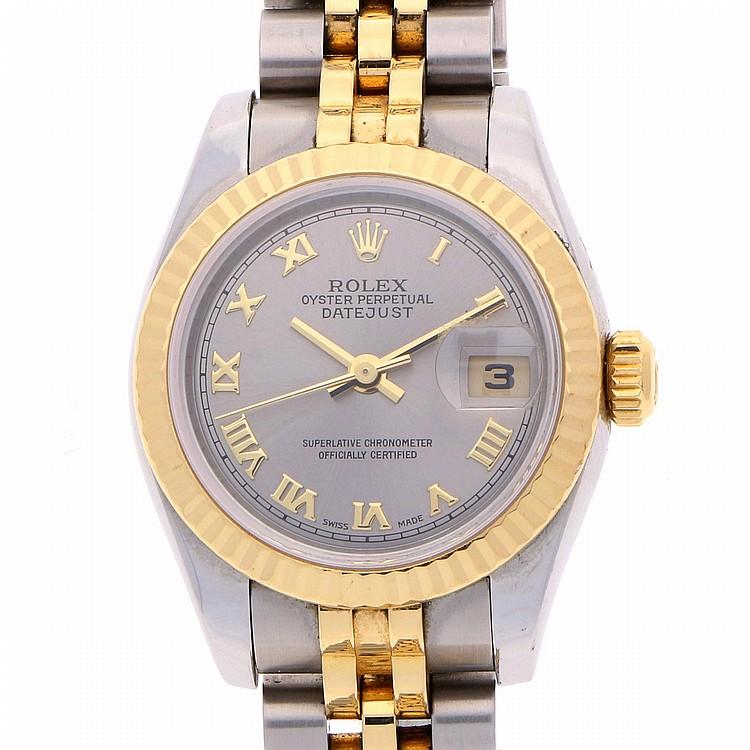 Bicolor Rolex Datejust Womens Wristwatch | Rolex Datejust Damenarmbanduhr bicolor mit Jubilearmband mit verdeckter Faltschließe