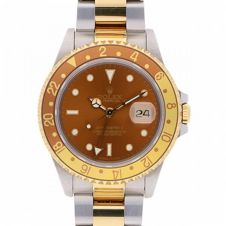 Bicolor Rolex GMT-Master II Wristwatch   Rolex GMT-Master II in Bicolor Stahl/Gold