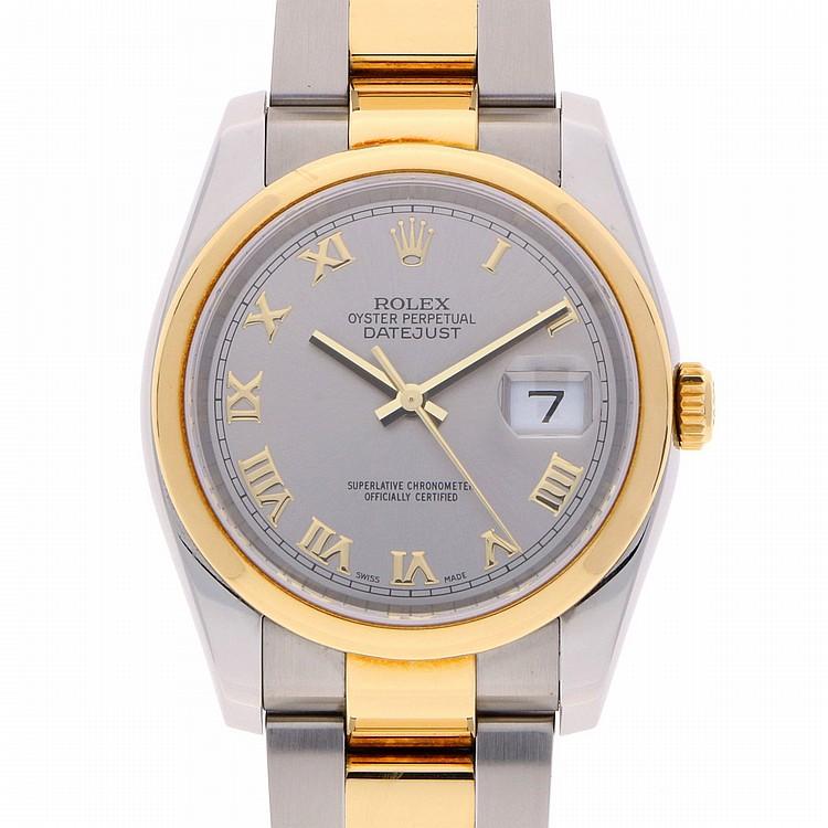Bicolor Rolex Datejust Mens Wristwatch | Rolex Datejust Herrenarmbanduhr bicolor mit Qysterarmband