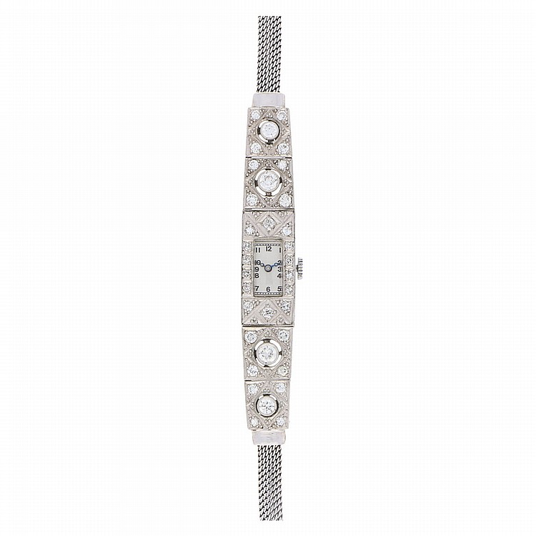 Diamond Wristwatch - Platinum | Platinarmbanduhr mit Diamanten