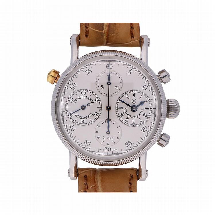 Chronoswiss Rattrapante Mens Wristwatch | Chronoswiss Rattrapante Herrenarmbanduhr
