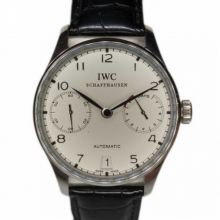 IWC 7 Days - Platinum Wristwatch | Seltene limitierte IWC Portugieser 7 Days in Platin