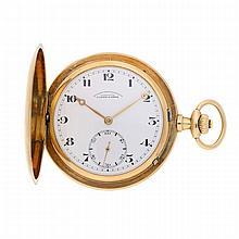 14K Yellow Gold Lange und Söhne Goldsavonnette Pocket Watch   Goldsavonnette