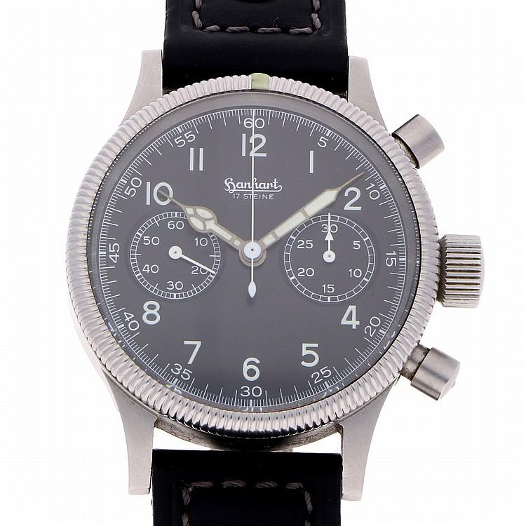 Hanhart Chronograph Wristwatch - Steel | Hanhart Stahl Chronograph