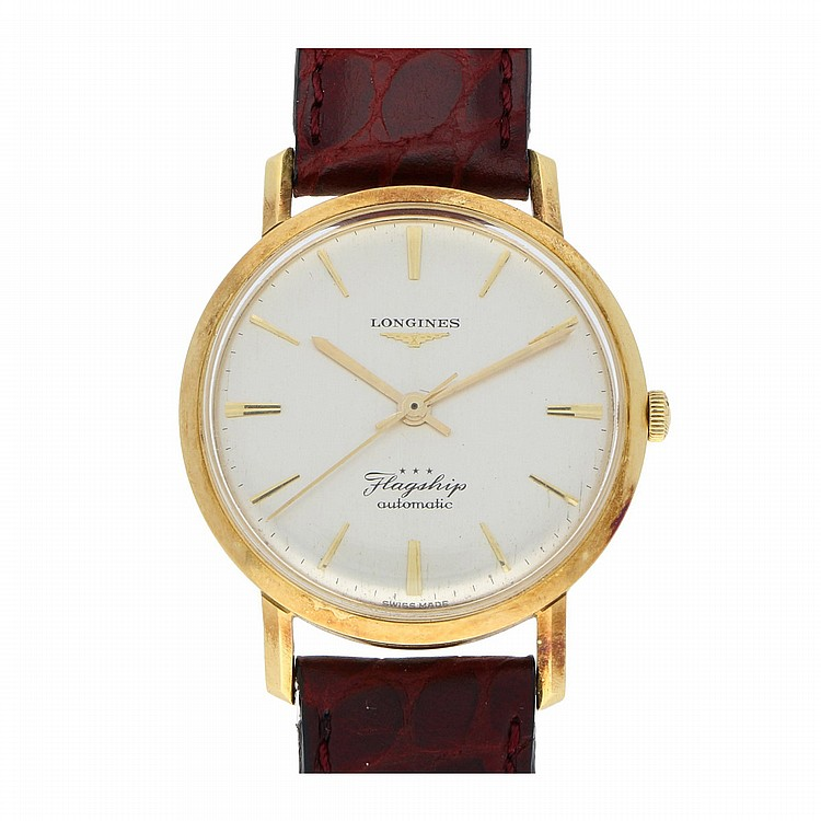 18K Yellow Gold Longines Mens Wristwatch | Armbanduhr