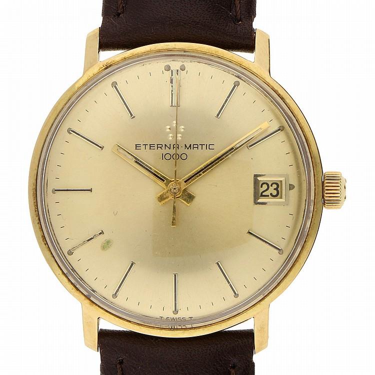 18K Yellow Gold Eterna Wristwatch | Armbanduhr Eterna