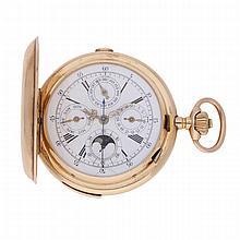 14K Yellow Gold Savonette Pocket Watch   Savonette aus 585er Gelbgold