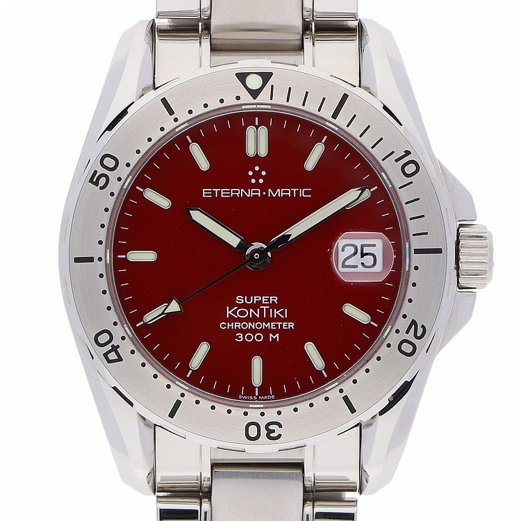 Eterna Kontiki  Chronometer Mens Wristwatch - Stainless Steel | Eterna Kontiki, Herrenarmbanduhr Chronometer