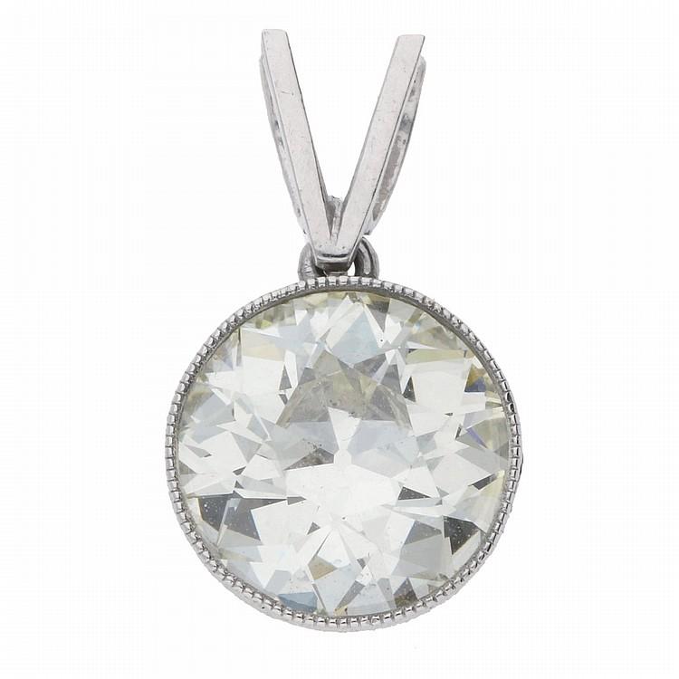 Old Miners Diamond Pendant - Platinum | Platin-Solitär-Anhänger mit einem Diamanten von ca. 2,9 ct