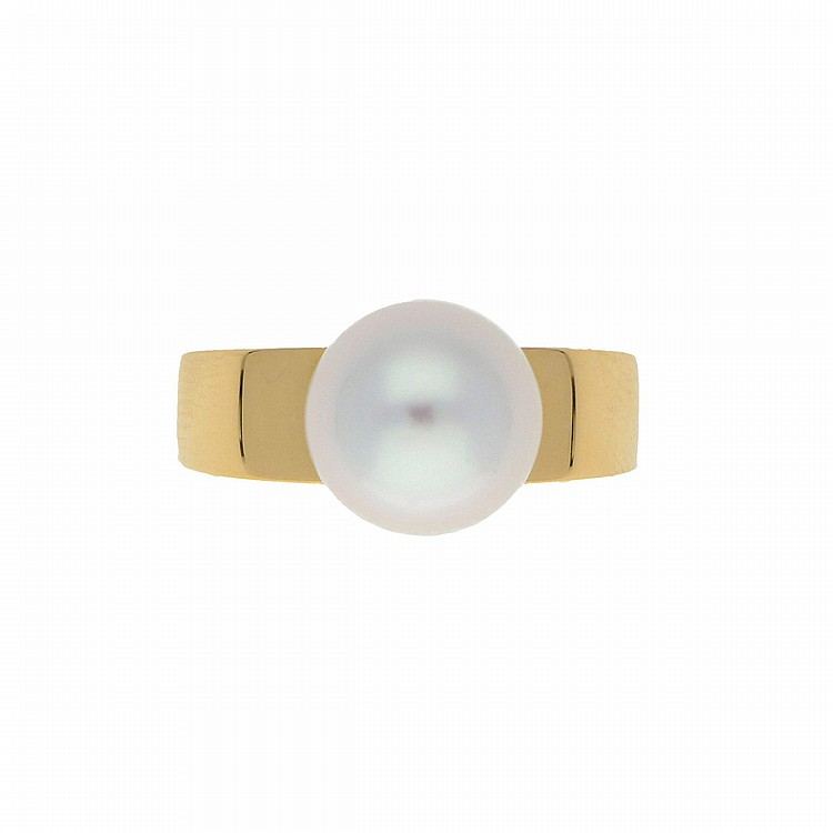 18K Yellow Gold South Sea Perl Ring | Ring mit Südseeperle in 750er Gelbgold