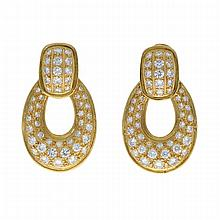 18K Yellow Gold Earrings | Paar Brillant-Ohrringe in 750er Gelbgold