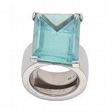 Silver Aquamarine Ring | Handarbeitsring mit Aquamarin in Silber