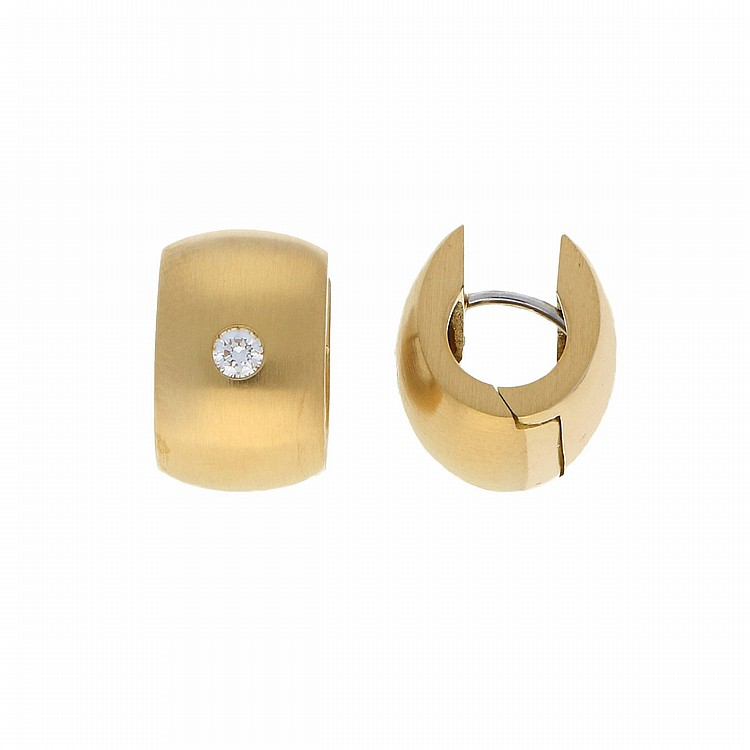 18K Yellow Gold Earrings | Paar Creolen in 750er Gelbgold