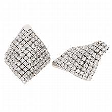 18K White Gold Earrings | Ohrclipse aus 750er Weißgold