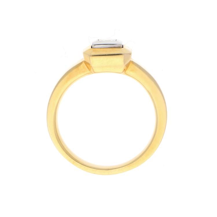 18k Yellow Gold Pricess Diamond Ring Ring In 750er Gelbgol
