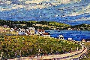Rod Charlesworth Canadian [b. 1955] CAPE ST. MARYS Oil on board 16 x 24 ins. : 40 x 60 cm Signed & titled