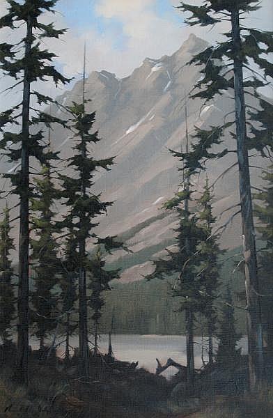 Karl E. Wood Canadian [1944-1990] PEYTO LAKE oil