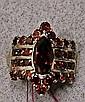 14k Gold Red Tourmaline Ring