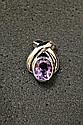 14k Gold Purple Amethyst Pendant