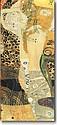 Hand Embellished Gustave Klimt Water Serpents 1