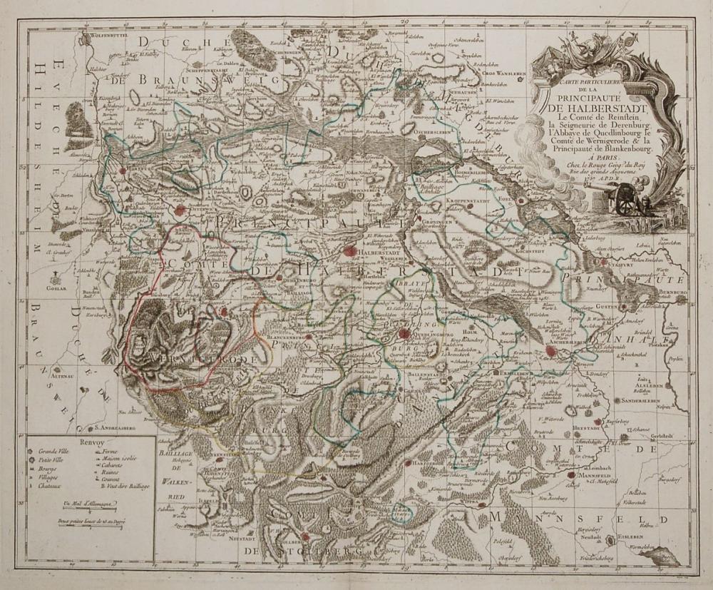 Alte Ansichten Alte Landkarten Deutschland Halberstadt