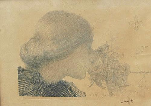 Edmond Francois Aman-Jean (French, 1860-1936), 'La