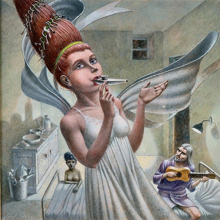 Paul Birkbeck (b. 1939) 'Angel on Kazoo, Saint on