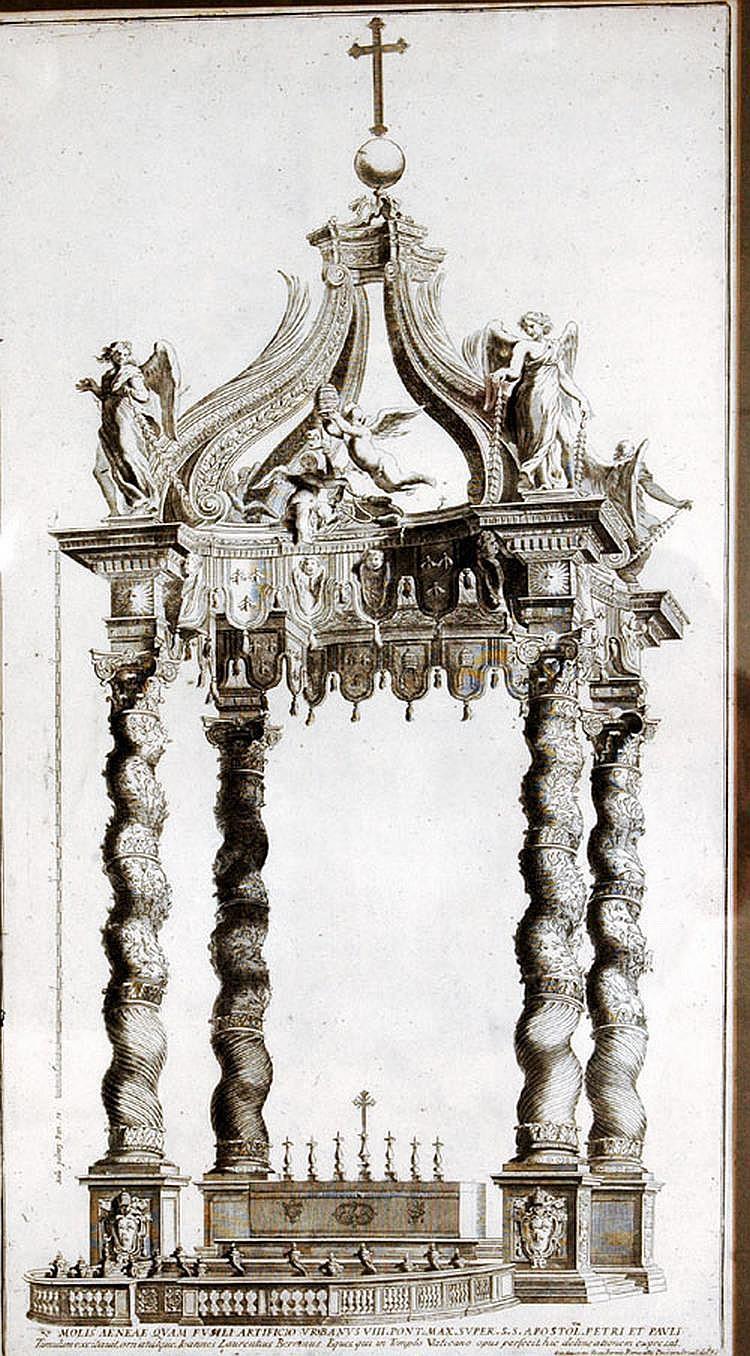 After Giacomo Rossi (Italian, 1748-1817) Bernini's