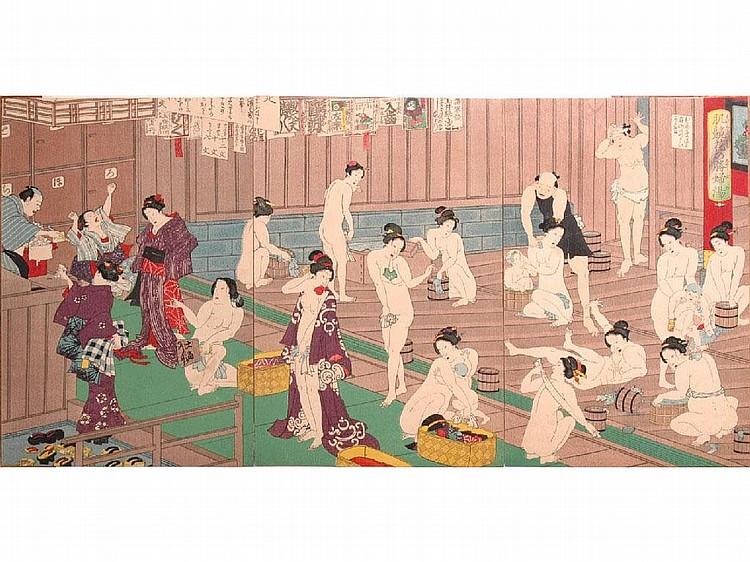 Toyohara Kunichika (Japanese, 1835-1900) Women in