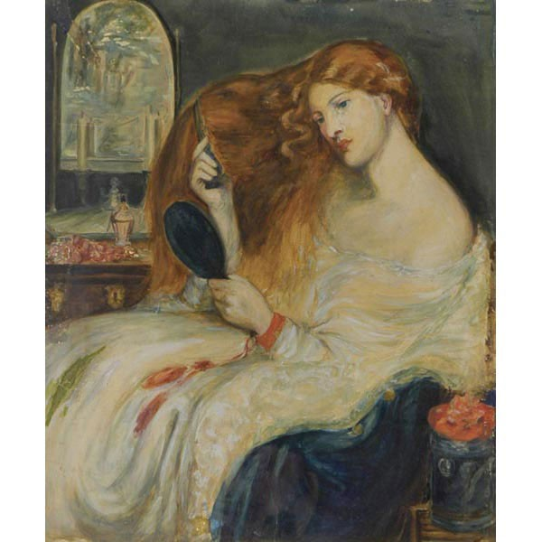 William St John Harper, A.N.A., NY, 1851-1910, Lady combing her red hair, gouache, 19.5