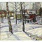 William Krullaars winter farm landscape oil