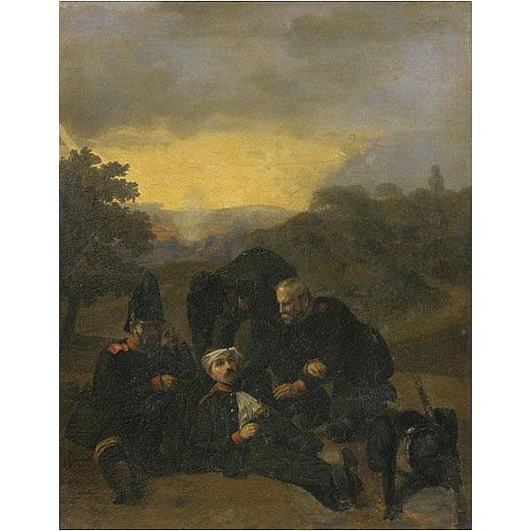 Eduard Schmidt 1851 German soldier scene